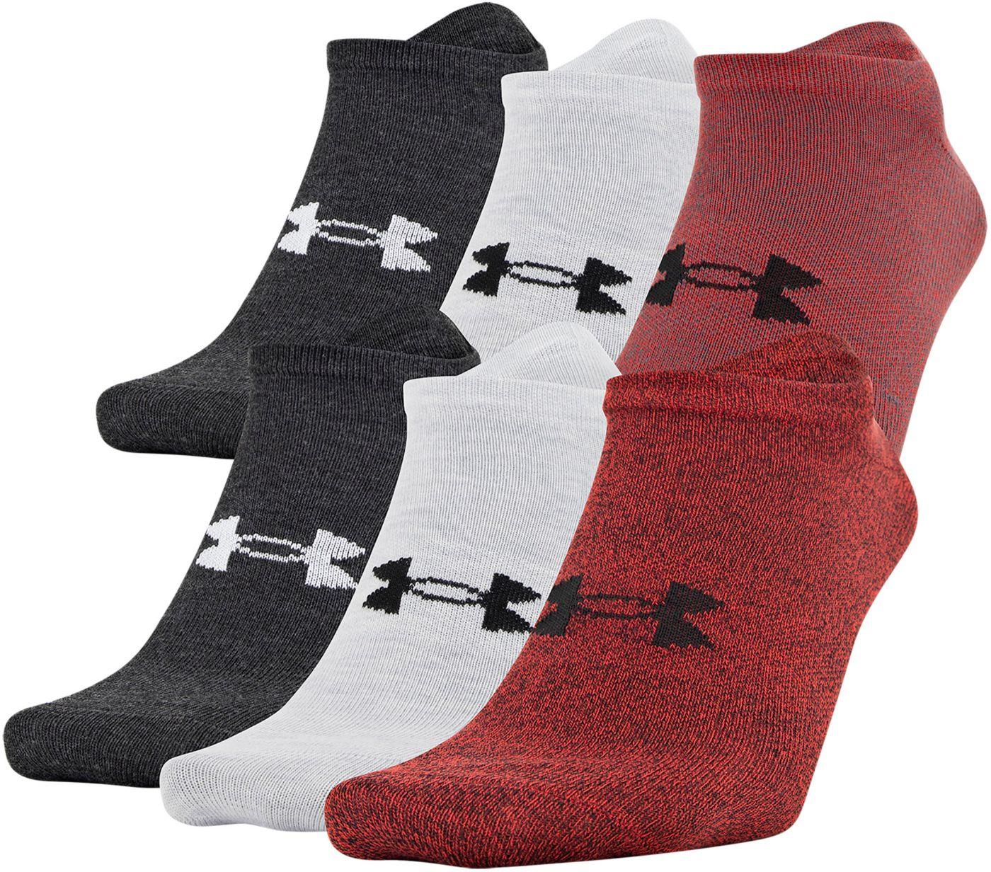Under Armour Men's Essential Lite No Show Socks - 6 Pack