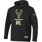 Under Armour Men's Milwaukee Bucks Lockup Hoodie