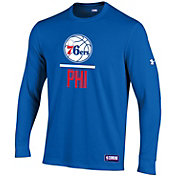 Under Armour Men's Philadelphia 76ers Performance Long Sleeve Shirt