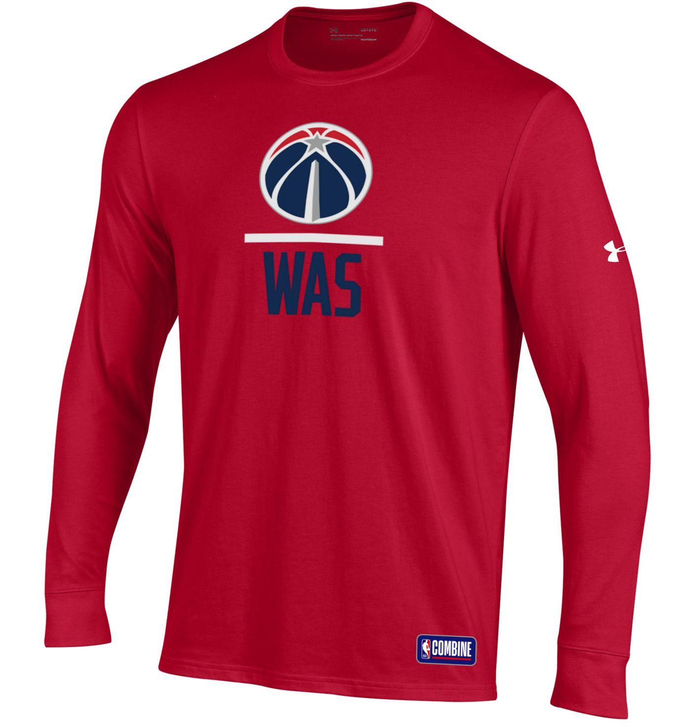 Under Armour Men's Washington Wizards Performance Long Sleeve Shirt