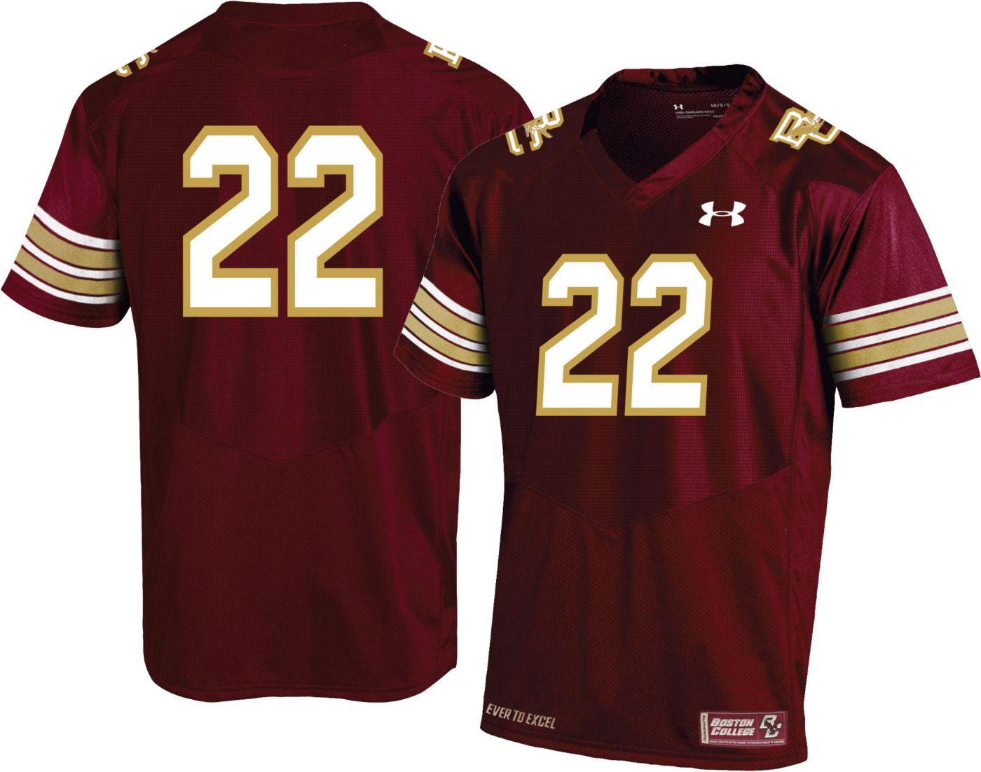 Under Armour Men's Boston College Eagles #22 Maroon Replica Football Jersey