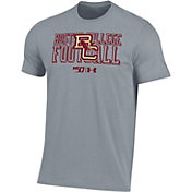 Under Armour Men's Boston College Eagles Grey 'CFB150' Performance Cotton Football T-Shirt
