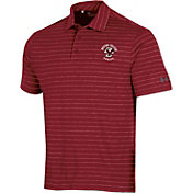 Under Armour Men's Boston College Eagles Maroon Playoff Tour Striped Performance Polo