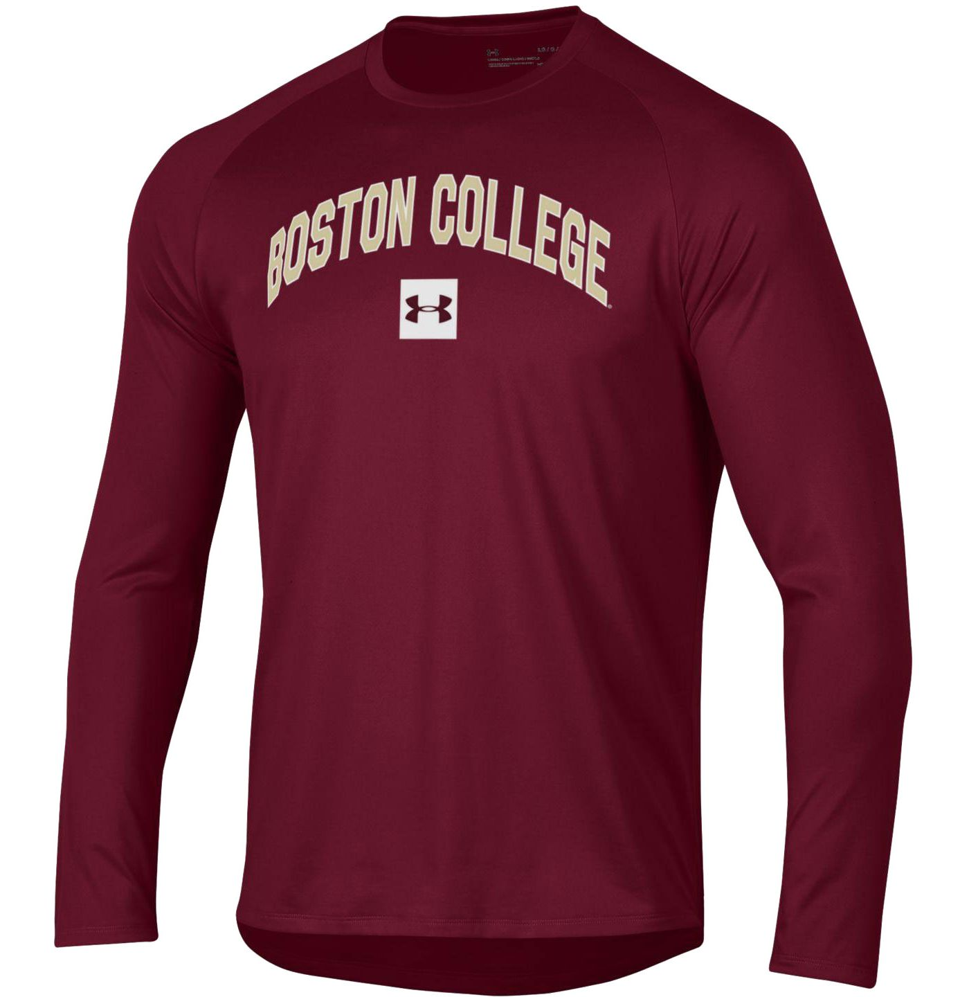 Under Armour Men's Boston College Eagles Maroon Long Sleeve Tech Performance T-Shirt
