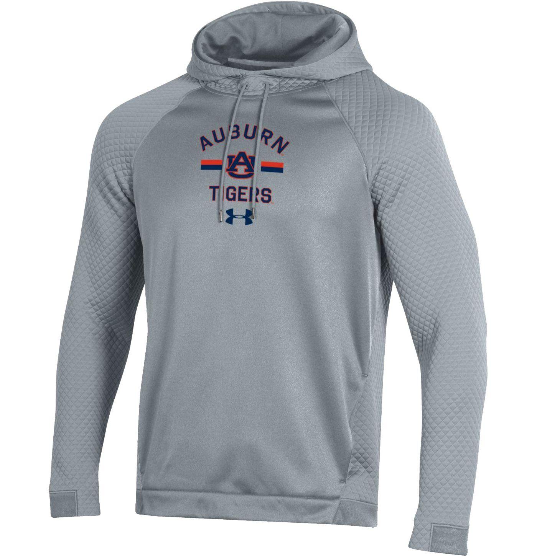 Under Armour Men's Auburn Tigers Grey HD Pullover Hoodie
