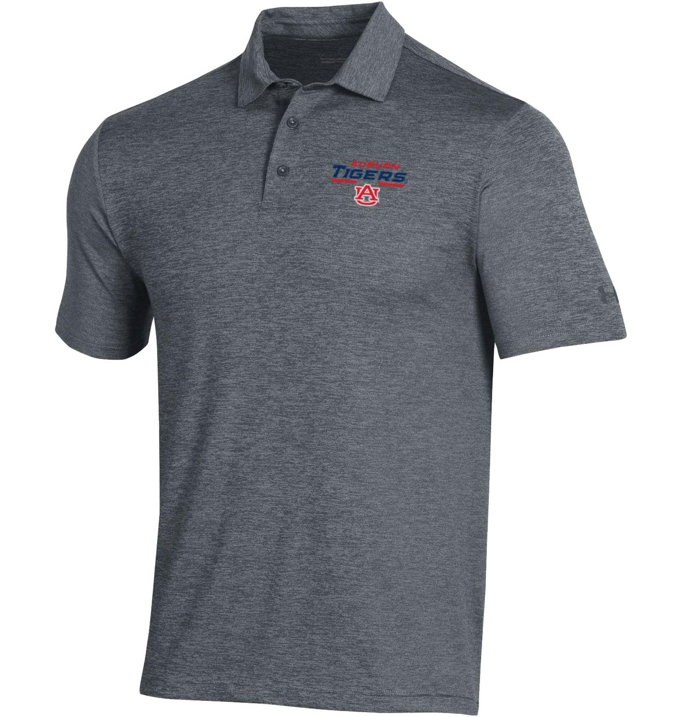 Under Armour Men's Auburn Tigers Grey Playoff Polo