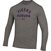 Under Armour Men's Auburn Tigers Grey Tri-Blend Performance Long Sleeve T-Shirt