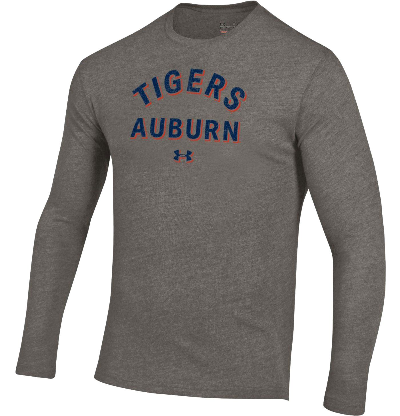 Under Armour Men's Auburn Tigers Grey Tri-Blend Performance Long Sleeve T-Shirt