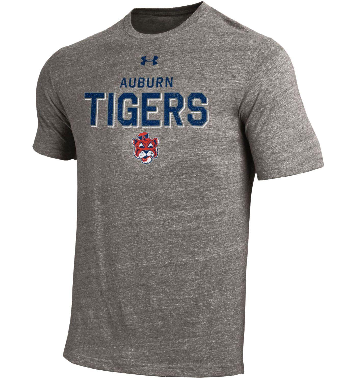 Under Armour Men's Auburn Tigers Grey Tri-Blend Short Sleeve Performance T-Shirt