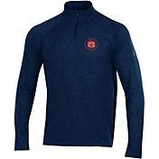 Under Armour Men's Auburn Tigers Blue Charged Cotton Quarter-Zip Shirt