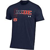 Under Armour Men's Auburn Tigers Blue 'Let's Ride' Performance Cotton Football T-Shirt