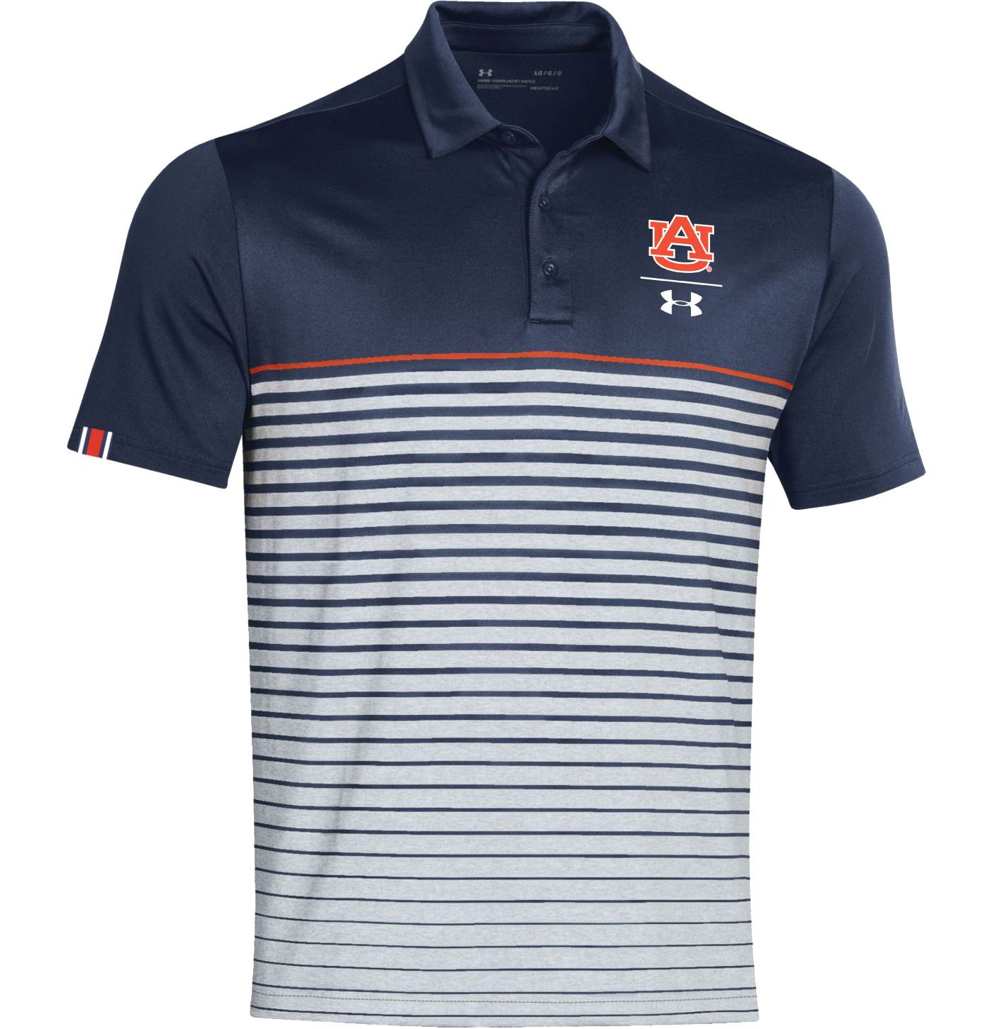 Under Armour Men's Auburn Tigers Blue Pinnacle Performance Sideline Polo