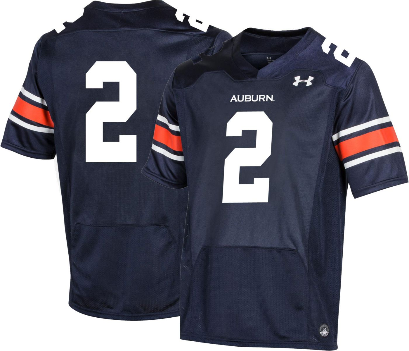 Under Armour Men's Auburn Tigers #2 Blue Replica Football Jersey