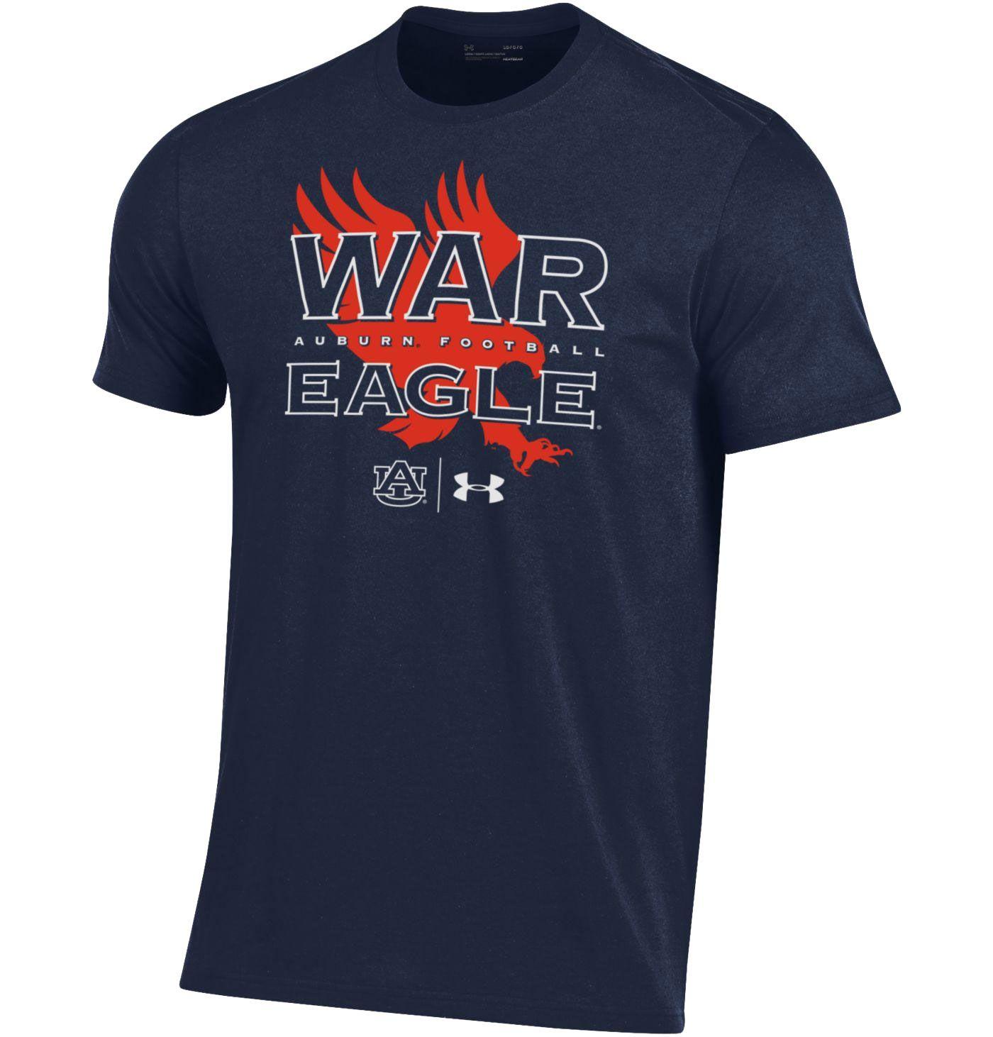 Under Armour Men's Auburn Tigers Blue 'War Eagle' Performance Cotton Football T-Shirt