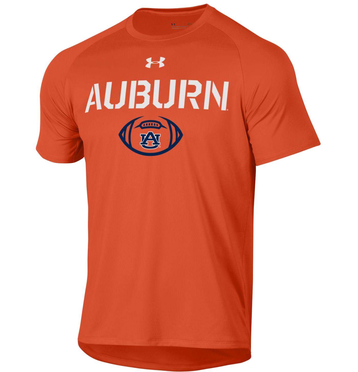 Under Armour Men's Auburn Tigers Orange Football Tech Performance T-Shirt