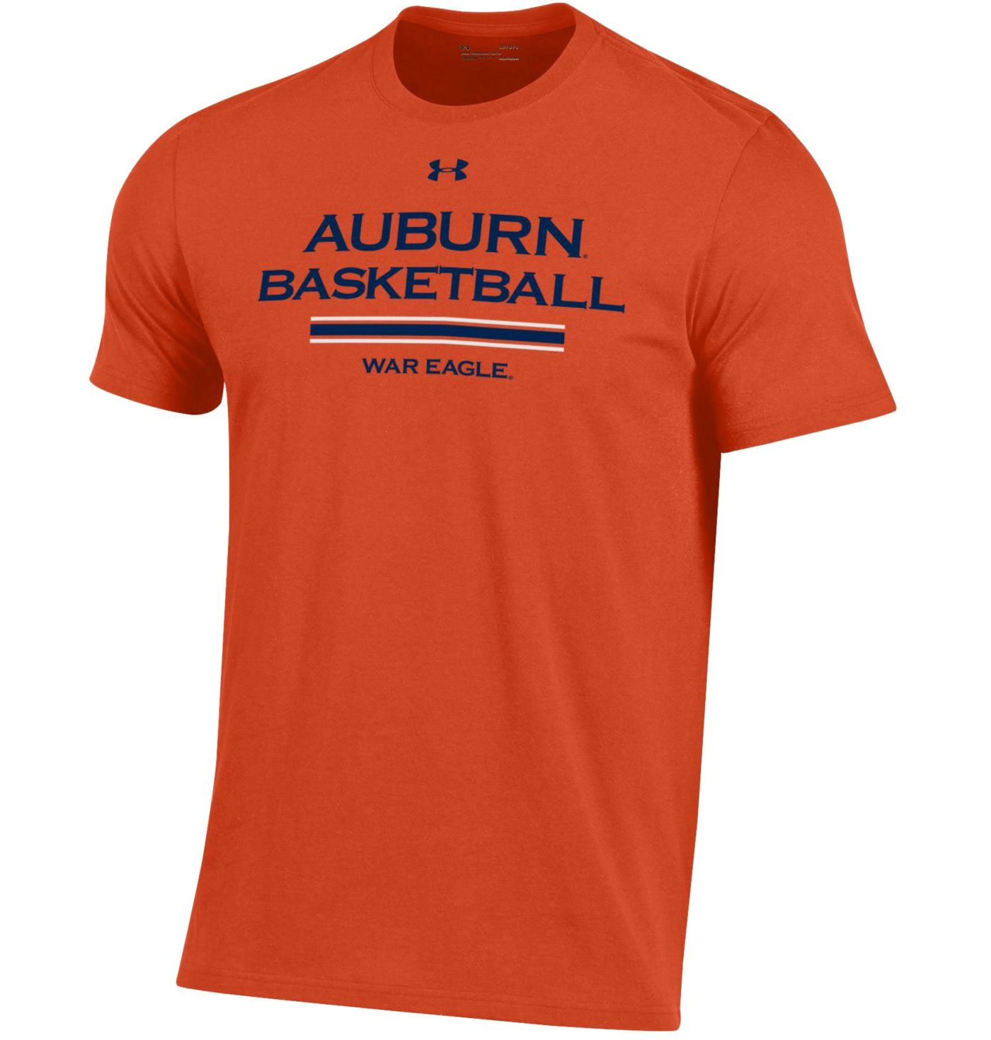 Under Armour Men's Auburn Tigers Orange Performance Cotton On-Court Basketball T-Shirt