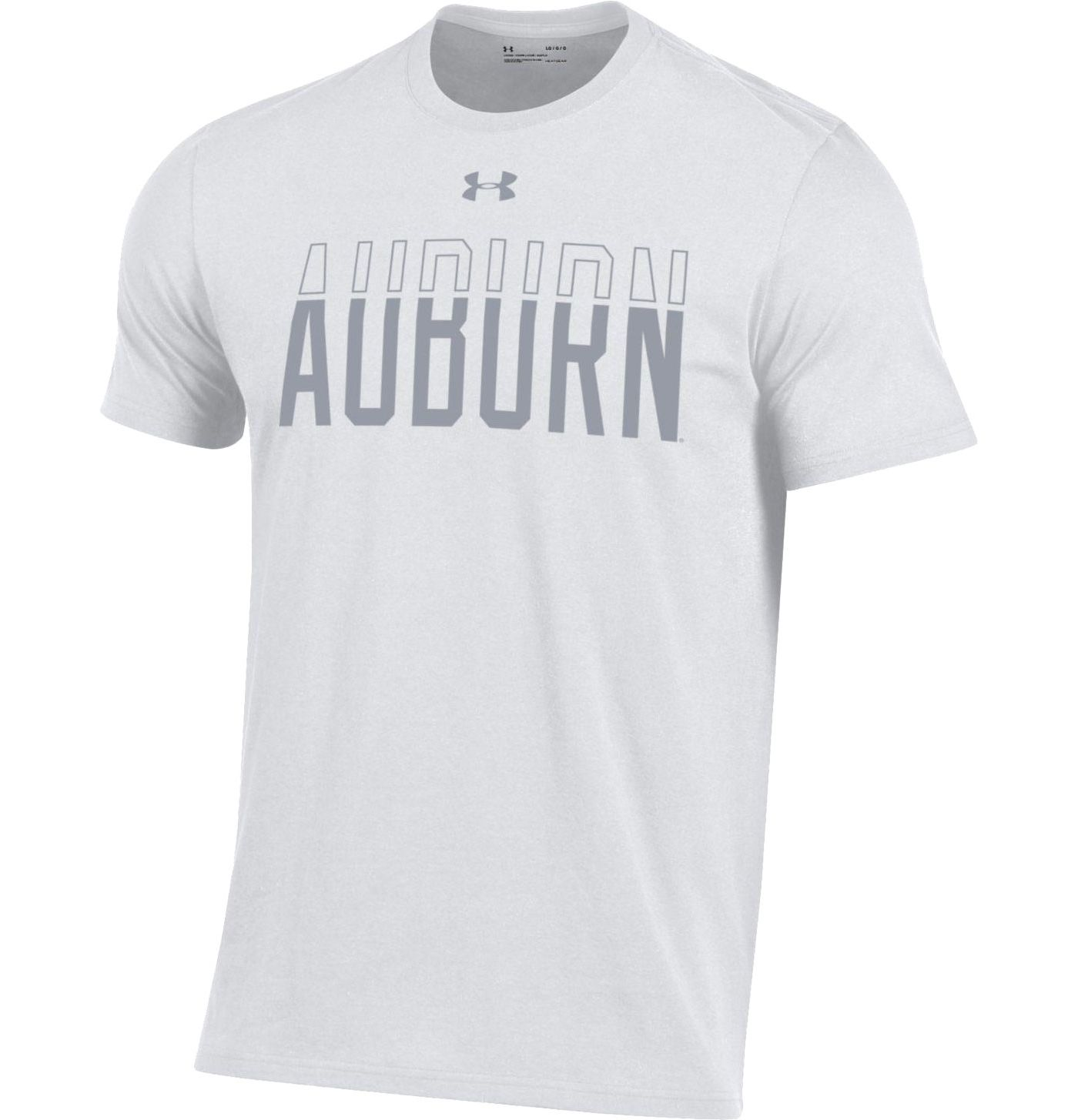 Under Armour Men's Auburn Tigers 'White Out' Performance Cotton Football T-Shirt