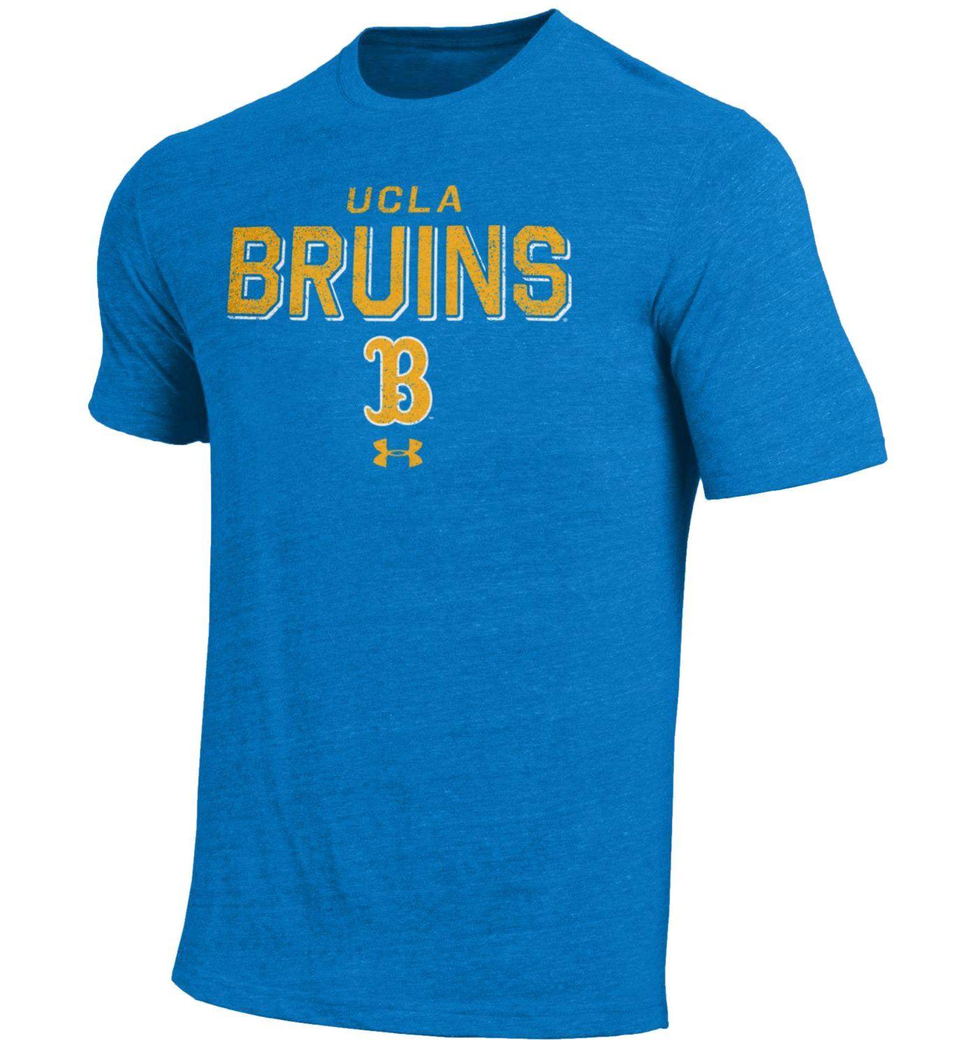 Under Armour Men's UCLA Bruins True Blue Tri-Blend Short Sleeve Performance T-Shirt