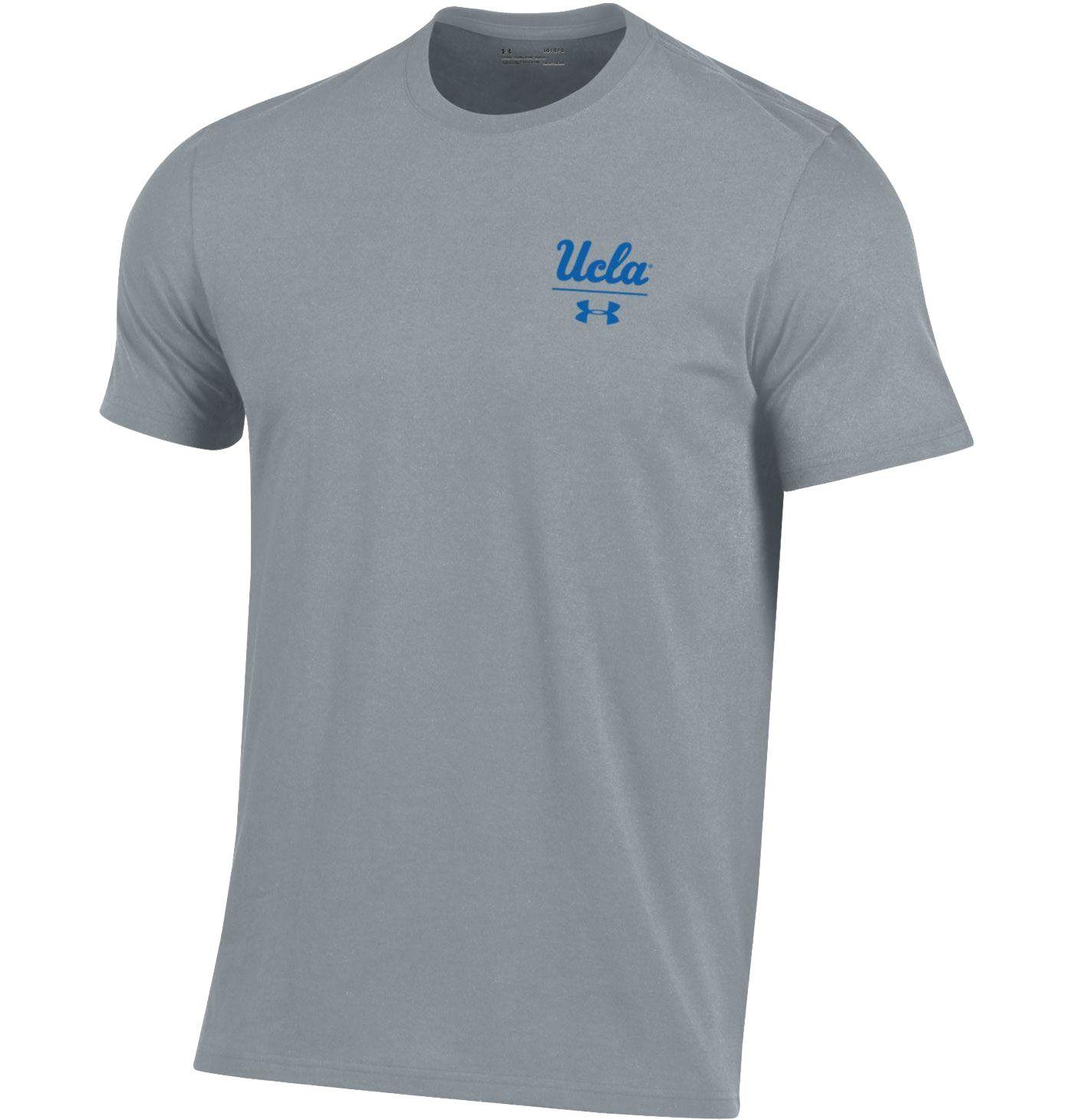 Under Armour Men's UCLA Bruins Grey 'Chip Kelly' Performance Cotton T-Shirt