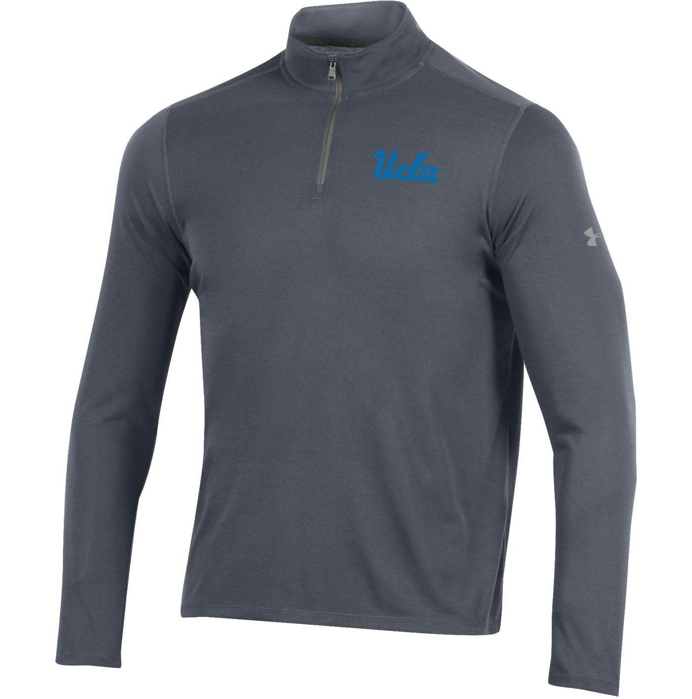 Under Armour Men's UCLA Bruins Grey 'Chip Kelly' Threadborne Quarter-Zip Shirt