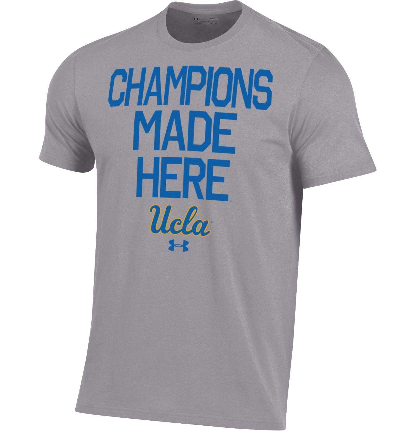 Under Armour Men's UCLA Bruins Grey Performance Cotton T-Shirt