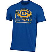 Under Armour Men's Cal Golden Bears Blue 'CFB150' Performance Cotton Football T-Shirt
