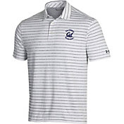 Under Armour Men's Cal Golden Bears White Playoff Tour Striped Performance Polo