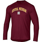 Under Armour Men's Central Michigan Chippewas Maroon Long Sleeve Tech Performance T-Shirt