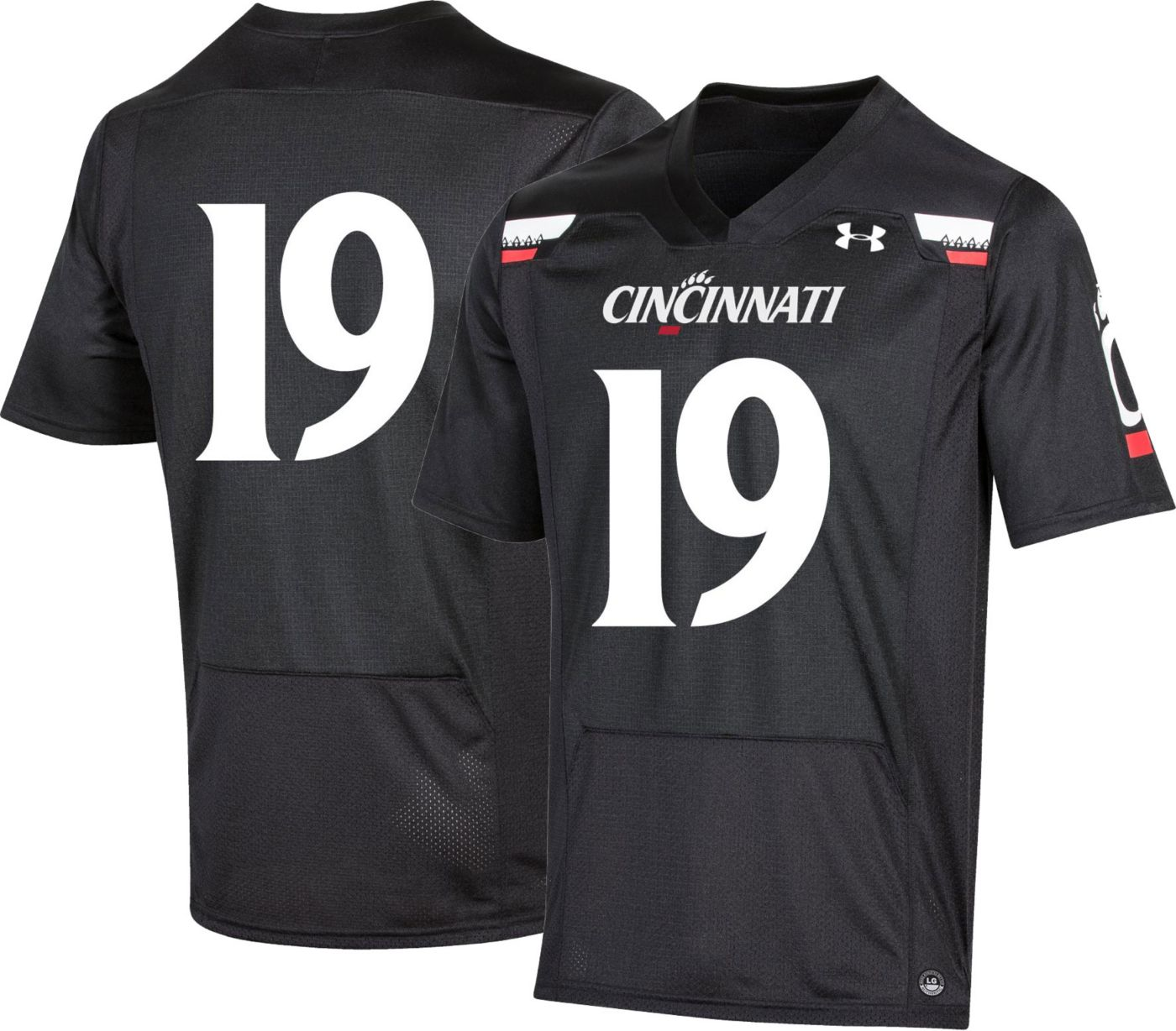 Under Armour Men's Cincinnati Bearcats #19 Replica Football Black Jersey