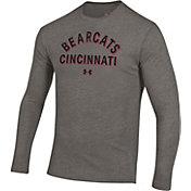 Under Armour Men's Cincinnati Bearcats Grey Tri-Blend Performance Long Sleeve T-Shirt