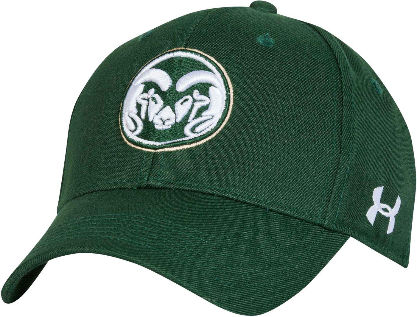 Under Armour Men's Colorado State Rams Green Adjustable Hat