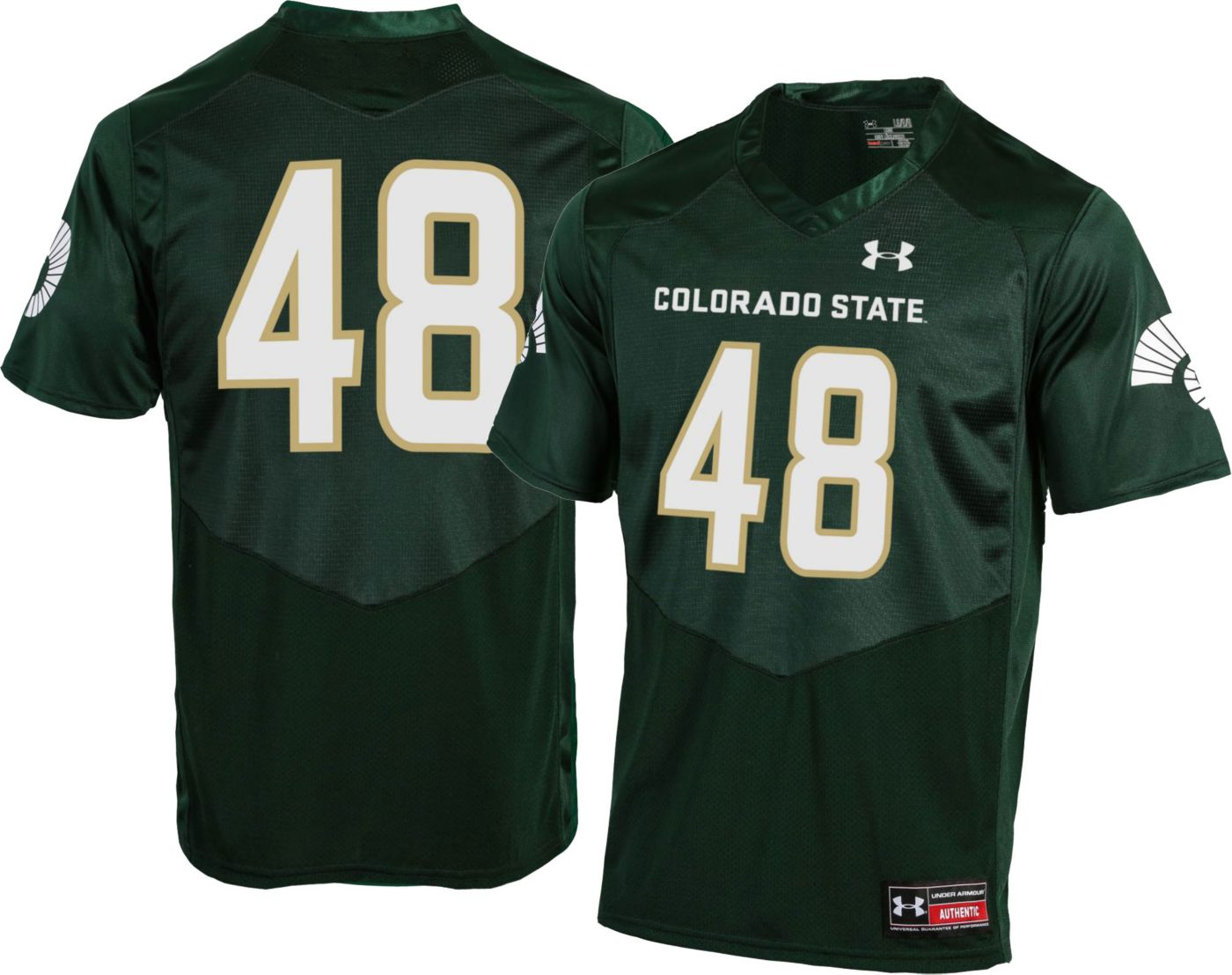 Under Armour Men's Colorado State Rams #48 Green Replica Football Jersey