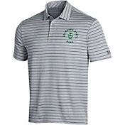 Under Armour Men's Colorado State Rams Grey Playoff Tour Striped Polo