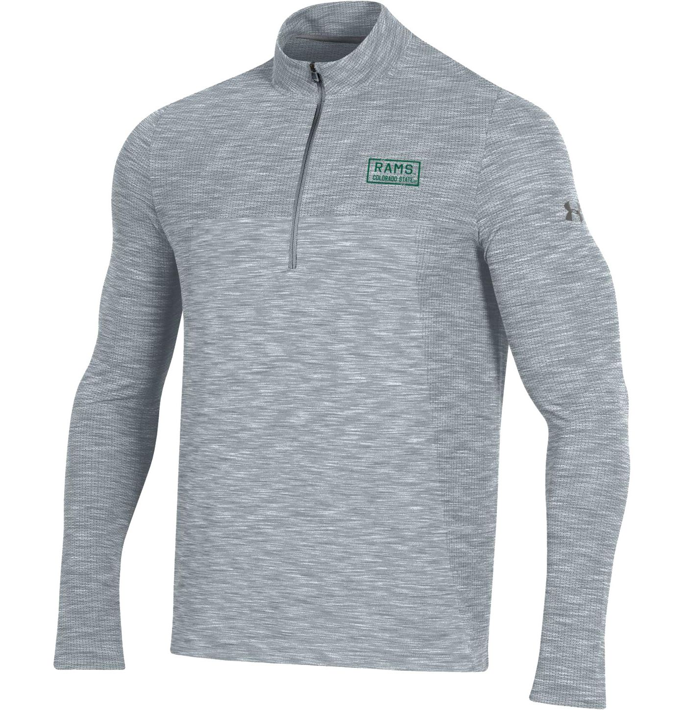 Under Armour Men's Colorado State Rams Grey Vanish Quarter-Zip Shirt