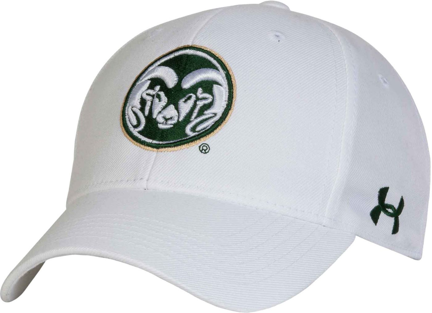 Under Armour Men's Colorado State Rams Adjustable White Hat