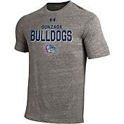Under Armour Men's Gonzaga Bulldogs Grey Tri-Blend Short Sleeve Performance T-Shirt