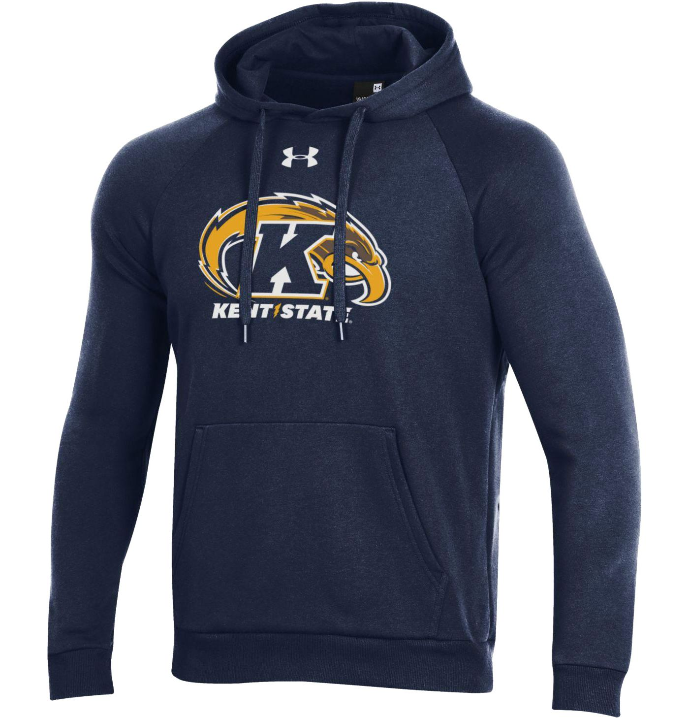Under Armour Men's Kent State Golden Flashes Navy Blue All Day Hoodie