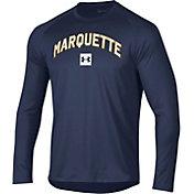 Under Armour Men's Marquette Golden Eagles Blue Long Sleeve Tech Performance T-Shirt