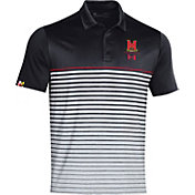 Under Armour Men's Maryland Terrapins Black Pinnacle Performance Sideline Polo