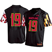 Under Armour Men's Maryland Terrapins #19 Replica Football Black Jersey