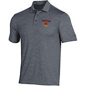 Under Armour Men's Maryland Terrapins Grey Playoff Polo