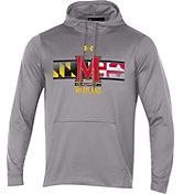 Under Armour Men's Maryland Terrapins Grey 'Maryland Pride' Armourfleece Pullover Hoodie