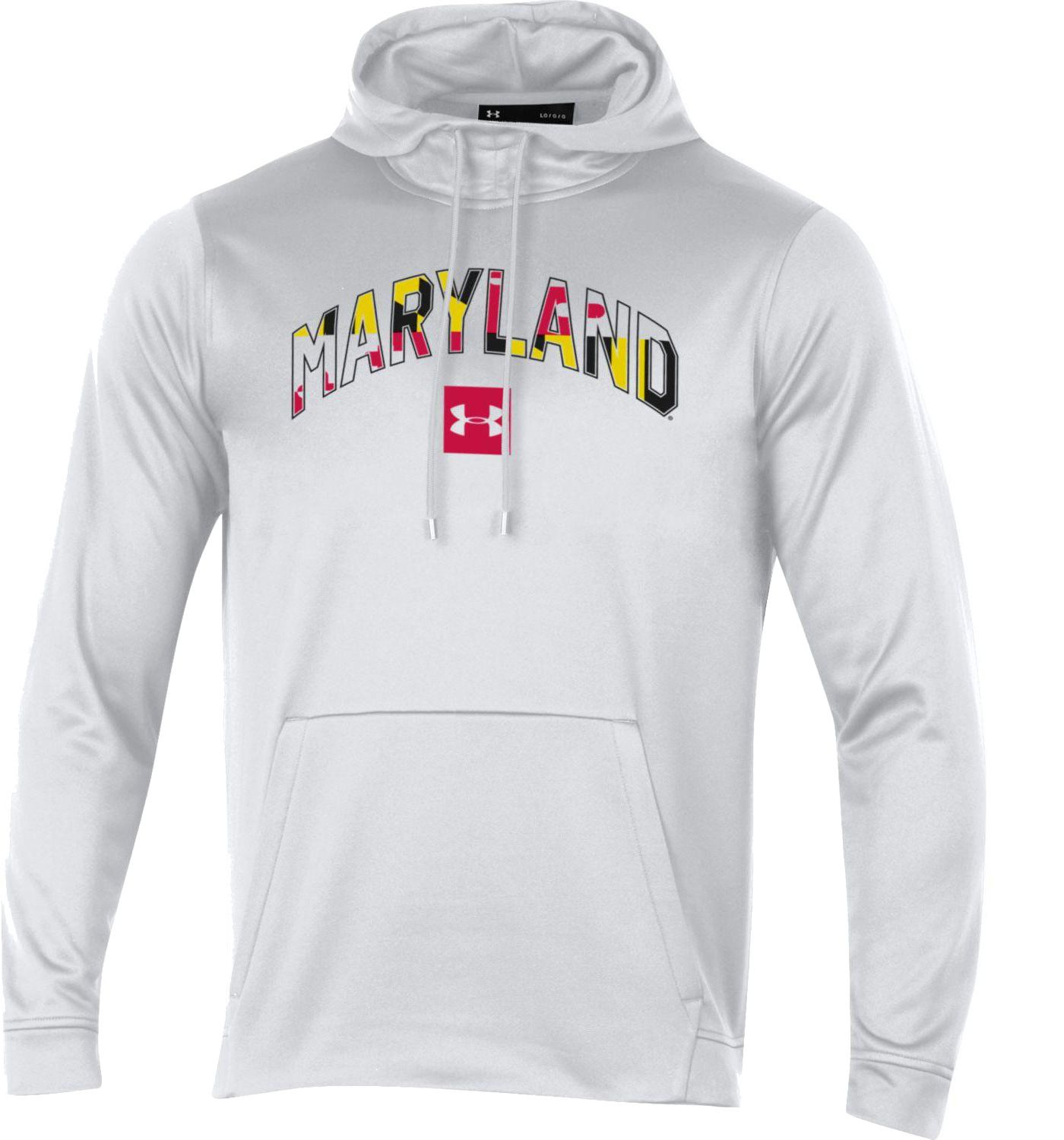 Under Armour Men's Maryland Terrapins 'Maryland Pride' Armourfleece Pullover White Hoodie
