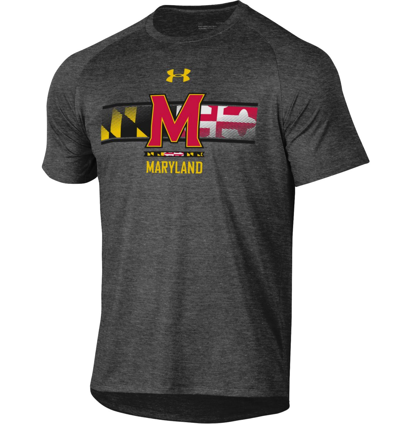 Under Armour Men's Maryland Terrapins Grey 'Maryland Pride' Tech Performance T-Shirt