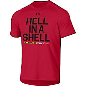 Under Armour Men's Maryland Terrapins Red 'Hell In A Shell' Tech Performance T-Shirt