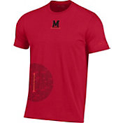 Under Armour Men's Maryland Terrapins Red Hype Side Circle Performance Cotton Basketball T-Shirt