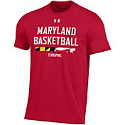 Under Armour Men's Maryland Terrapins Red Performance Cotton On-Court Basketball T-Shirt