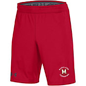 Under Armour Men's Maryland Terrapins Red Raid Performance Shorts