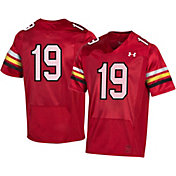 Under Armour Men's Maryland Terrapins #19 Red 'CFB150' Replica Football Jersey
