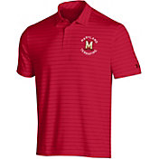 Under Armour Men's Maryland Terrapins Red Playoff Tour Striped Polo